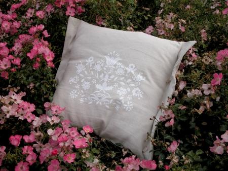 wzór z terenu kaszub drukowany na lnie