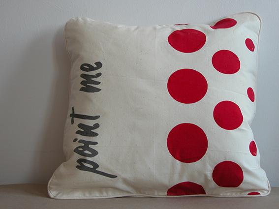 bawełniana poduszka w grochy