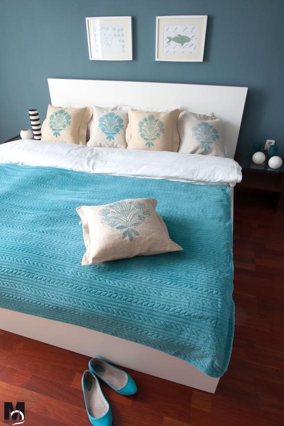 poduszki z lnu z nadrukiem