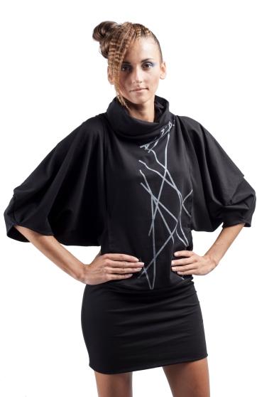 34 sukienka czarna